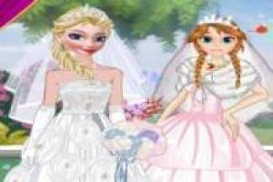 Free Wedding dress up Elsa and Anna Game