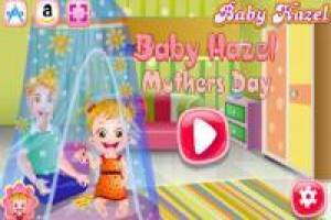 Baby Hazel has fun on Mother's Day