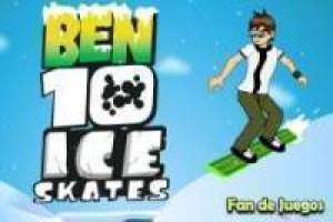 Ben 10 on the snowboard