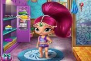 Shimmer and Shine dans le sauna