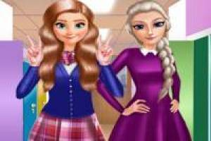 Anna and Elsa: Back to school