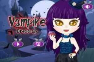 Dress up the vampire girl for Halloween