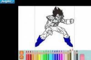 Dragon Ball: Colorear Vegeta SSJ