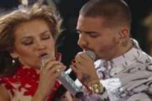 Free Maluma and Thalia: Puzzle Game