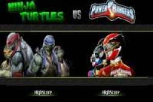 Tortugas Ninja TMNT VS Power Rangers