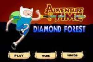 Finn the Human diamond in the forest