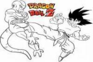 Preto Goku vs Frieza: Pintura on-line