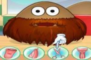 Pou, it's time to shave