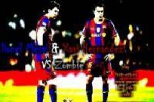 Messi y Xavi vs zombies