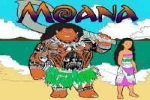 Moana to paint online