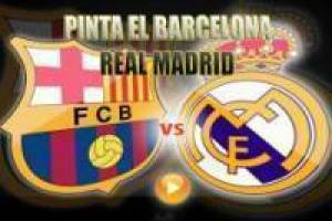 Fútbol: Colorear Barcelona vs Real Madrid