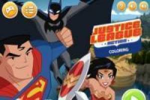 Kleurplaten Justice League