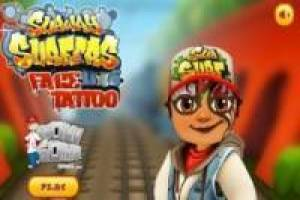 Subway Surfers tatuajes faciales
