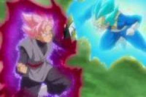 Black Goku Rose vs Vegeta SSJ Deus: Enigma