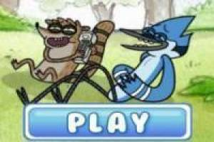 Regular Show cortan césped
