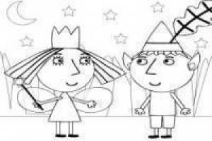 Ben and Holly's Little Kingdom uncolored