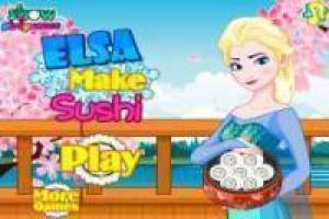 Frozen: Elsa Cooking Sushi