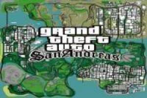 Map of Grand Theft Auto San Andreas