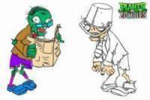 Plants vs Zombies: Colorear