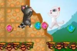 My Talking Tom y My Talkin Ángela en una aventura