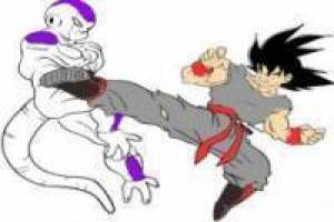 Colorear Black Goku vs Freezer