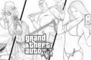 Desenhe Grand Theft Auto V