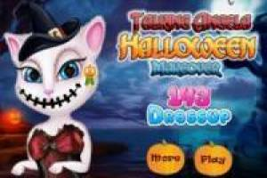 Talking Angela: Maquillaje de Halloween