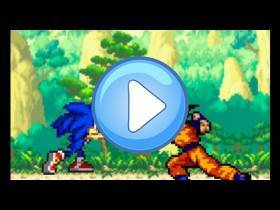 youtube, gameplay, video: Goku vs Sonic: Animace