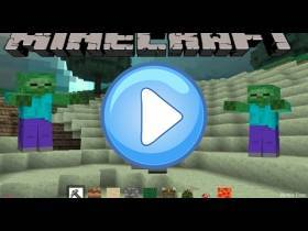 youtube, gameplay, video: Zombie Minecraft